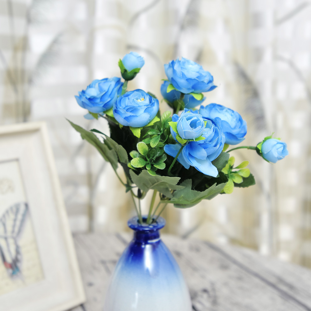 High Quality Silk Flower European 1 Bouquet Artificial Flowers