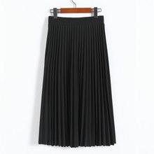 OLGITUM/Осенняя модная шифоновая плиссированная юбка с заниженной талией для похудения, летняя плиссированная юбка