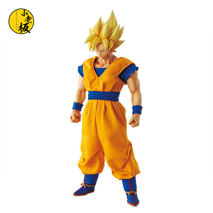 Free Shipping Anime Dragon Ball Z Super Saiyan Son Goku PVC Action Figure Collectible Toy 22CM how to train your dragon 2 dragon toothless night fury action figure pvc doll 4 styles 25 37cm free shipping retail
