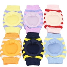 Apple Children Knee Pads Baby Elbow Pad Kids Knees Protector Safety Newborn Crawling cushion Mat Boys Leg Warmers First Walking