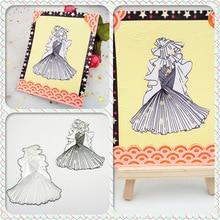 AZSG Wedding Dress Cutting Dies For DIY Scrapbooking Decoretive Embossing Stencial Decoative Cards Die Cutter