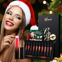 New 12 Colors Set Matte Lipstick Waterproof Lip Gloss Long Lasting Liquid Lipsticks Set In Christmas