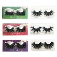 MIKIWI Faux Mink 50pcs Lashes 25mm 6D Eyelashes Extension Makeup Natural False Eyelashes Lash Extension Silk Eyelashes lashes