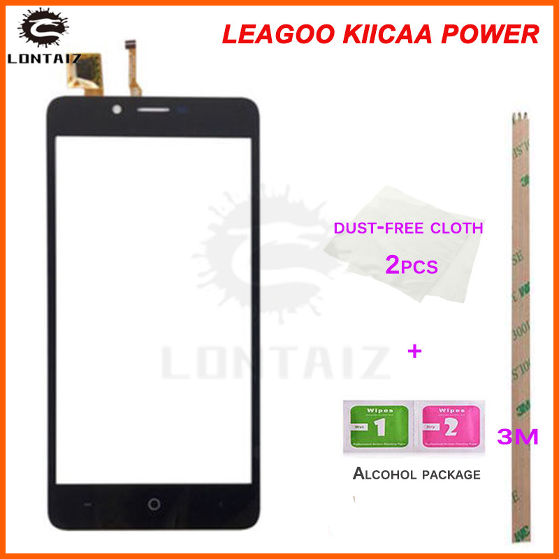 טלפון נייד לוח מגע מסך מגע מול מסך זכוכית Digitizer פנל חיישן עבור Leagoo Kiicaa כוח כלים דבק