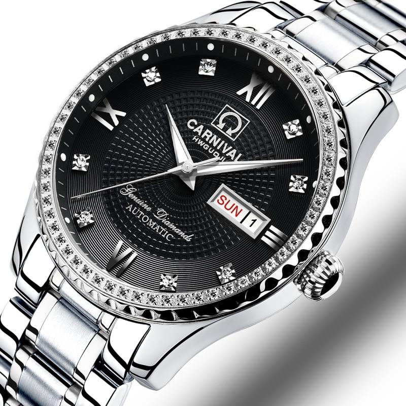 Здесь можно купить  Carnival Watch Men Automatic Mechanical Brand Luxury Men Watches Luminous Sapphire reloj hombre Waterproof Men Watch C-8629-4  Часы