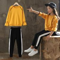 Teenage Girls Clothing Sets 2018 Autumn Kids Outfits Long Sleeve Sweatshirt Tracksuit Sport Suits Children Clothes For Girls