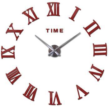 special offer 3d big acrylic mirror wall clock diy quartz watch still life clocks modern home decoration living room stickers 11