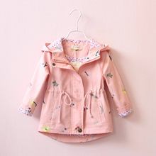 Children Clothing Flower Embroidery Girls Outerwear Jackets Kid Casual Coat Baby Hooded