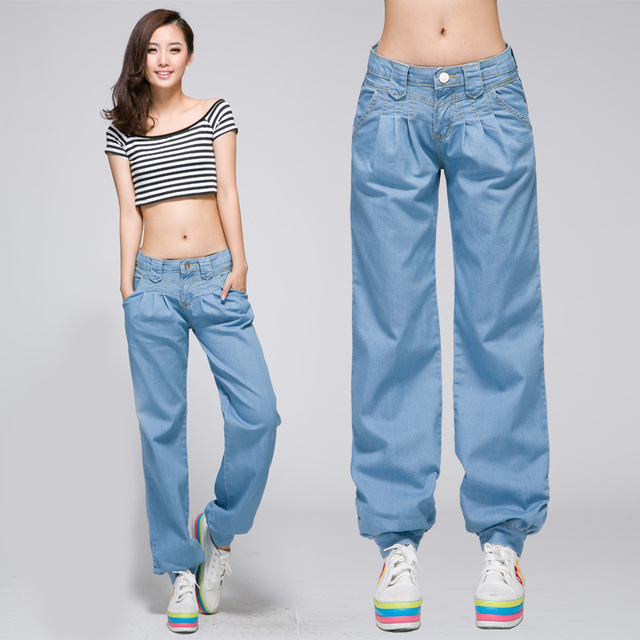 Us40 In Blue Jeans Baggy Pants Auf Denim Aus For And Loose Women Light 0baggy q34RjAL5