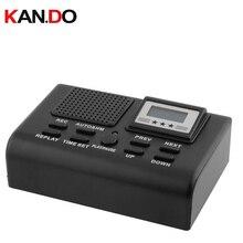 Grabadora de teléfono activada por voz dispositivo de grabación de audio con función de repetición, monitor de teléfono fijo de 35 horas, 1GB de duración