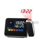 Buy online Mini Weather Station LCD Projection Alarm Clock  Modern Electronic Backlight Desk Bedside Clocks Digital Thermometer Hygrometer