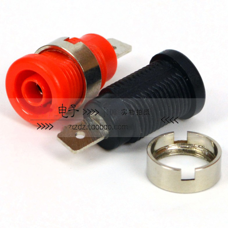 4MM soldering terminal safety banana socket test terminal block plug in banana plug in Connectors from Lights Lighting