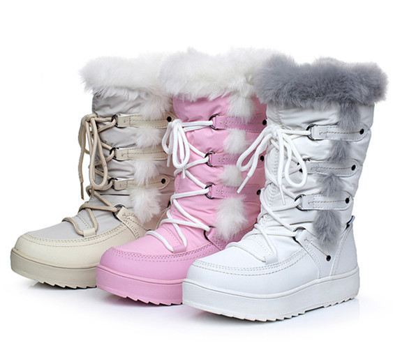 2016 Winter children sonw boots fashion girls boots wool warm snow ...