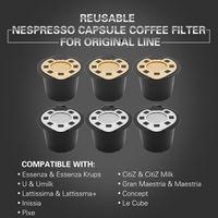 Nespresso Refillable Coffee Capsule Use 300 Times More Reusable Capsule Refill Capsule Compatible Nespresso System Coffee