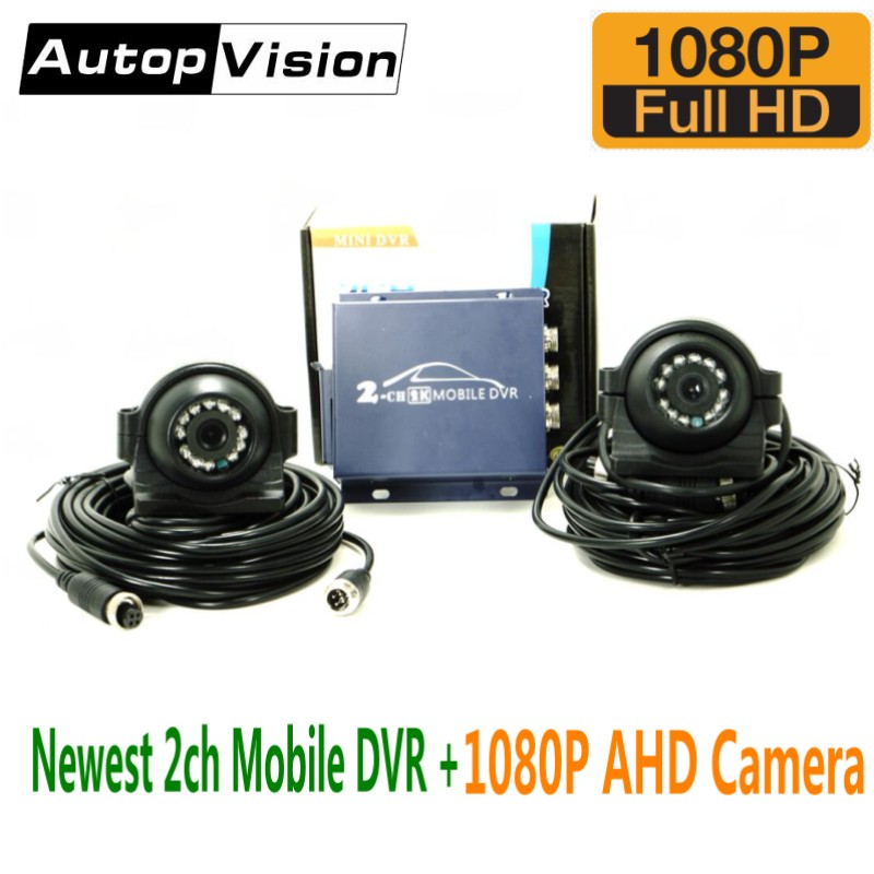 Newest 2CH MINI mobile dvr+1080P AHD Cameras mini vehicle DVR support 128GB/CVBS/AHD 5.0MP 2 Channel SD DVR with remote control 2ch mini mobile dvr real time hd d1 2 channel sd dvr support 128gb sd card