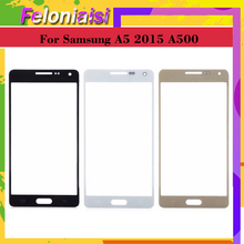 цена на 10Pcs/lot For Samsung Galaxy A5 2015 A500 A500F A500FU A500M A500Y A500FQ Touch Screen Front Glass Panel TouchScreen Outer Lens