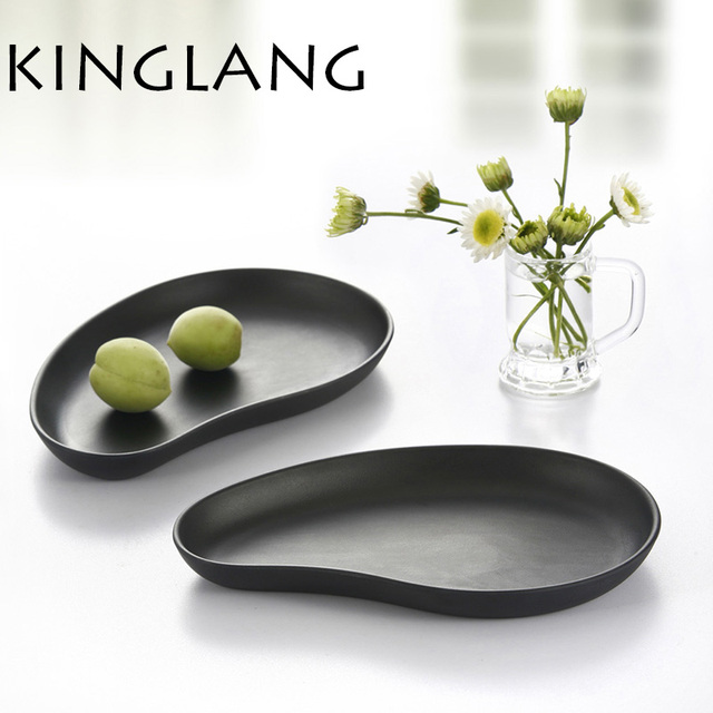 New kidneys plates pear shape dish reins resin tableware for catering and gift use black matt  sc 1 st  AliExpress.com & New kidneys plates pear shape dish reins resin tableware for ...
