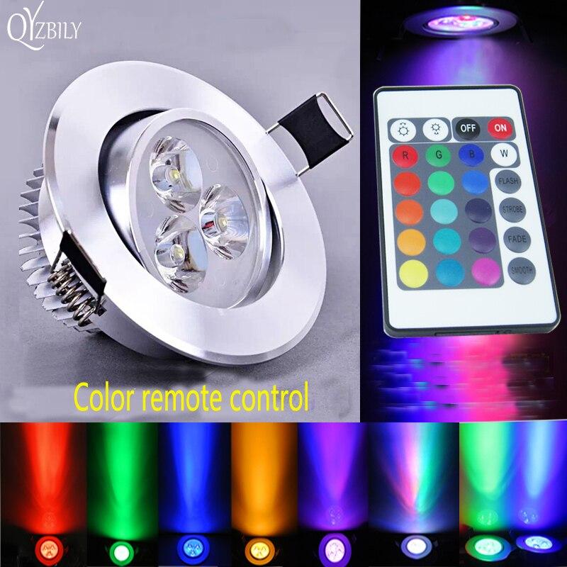 Led Lumière Spot Lumineux Du Panneau Downlight Luminaria Lampe Plafonnier Plafond Plafondlamp Surface Monté RGB Couleur Télécommande Pour La Maison