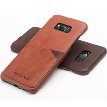 QIALINO Genuine Leather Back Case with Card Holder for Samsung Galaxy S8 S8Plus