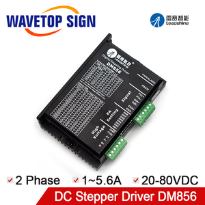 Leadshine Stepper Motor Driver DM856 2Phase 20-80VDC 1-5.6A For CNC Router Laser Engraving Machine(China)