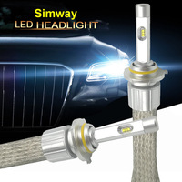 1 Set LED HB3 9005 Headlight bulbs Auto Lamp h11 led 6000k D2S D2H H4 H1 H7 H9 H27 880 for 55W 12v Auto projector lens lamp Bulb