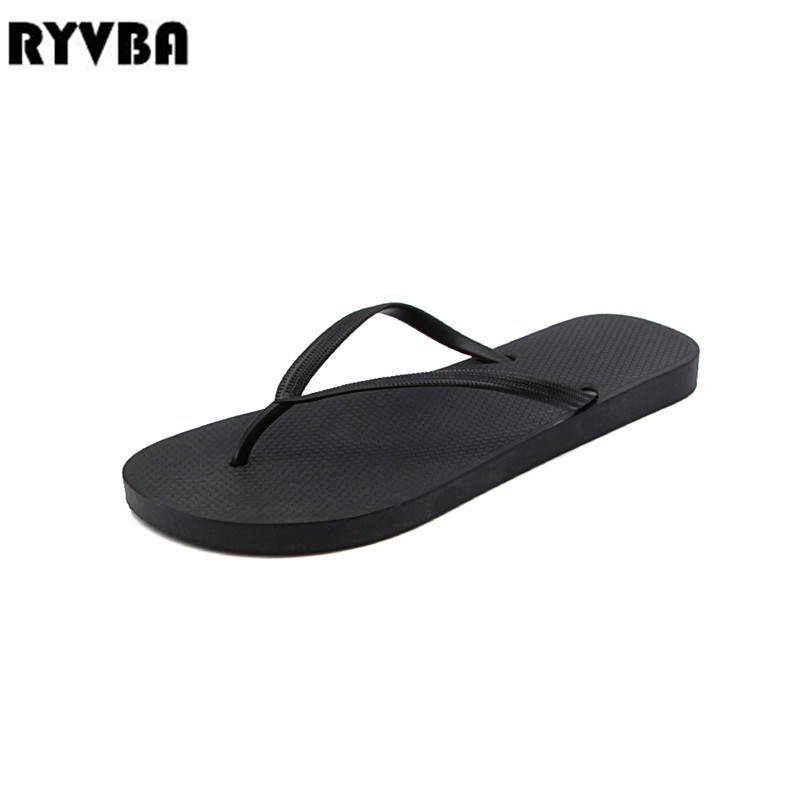 RYVBA Women Slippers Summer Sandals Sexy Woman Flat Sandal ladies Black white pink flip flops Shoes female fashion slides купить