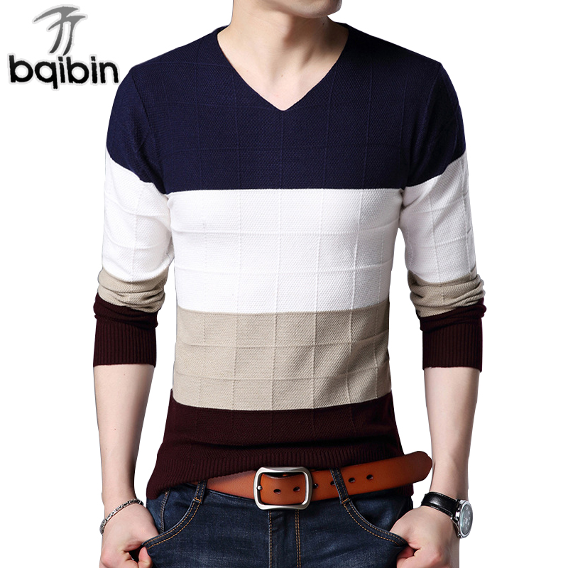 2018 New Spring Fashion Brand Casual Sweater V-Neck Slim Fit Knitting Mens High-Quality Sweaters And Pullovers