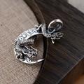 Thai Silver Wholesale S925 Pure Silver Pendant Archaize Style The Dragon Pendant Elegant Personality Men Present