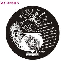 1Pc Feather/ Letter Nail Art Stamp Template Image Plate Steel Nail Stamping Plates Manicure Stencil For Polish Nail Stamping #80 недорого
