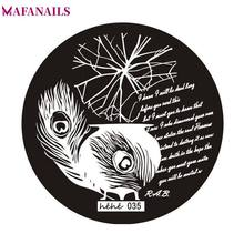 1Pc Feather/ Letter Nail Art Stamp Template Image Plate Steel Nail Stamping Plates Manicure Stencil For Polish Nail Stamping #80(China)