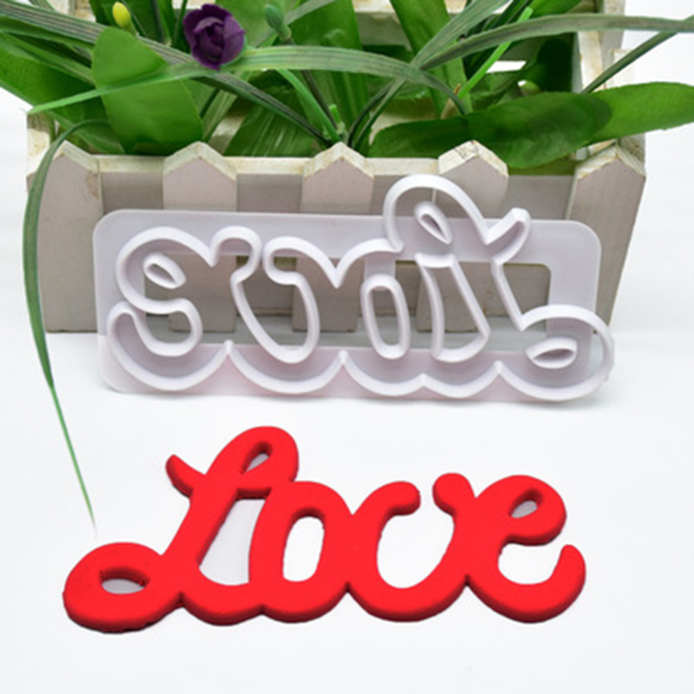 1pcs/set New Design DIY plastic shape cutting die penguin Shape Sugar cakes decorated plastic mold love cut