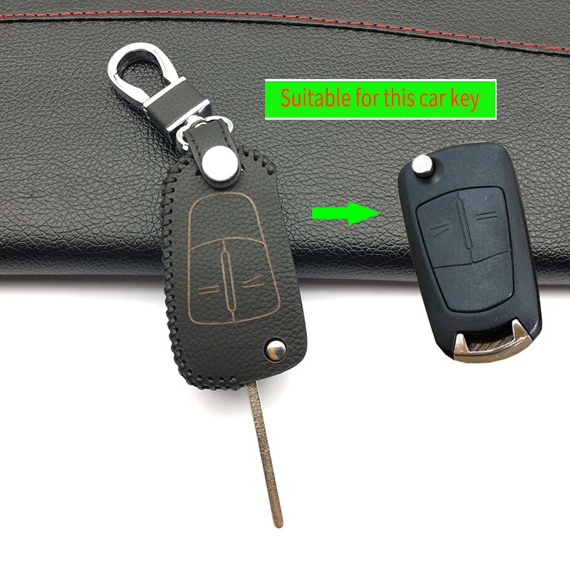2017 Leather Folding Key Holder Cover Case For Chevrolet Cruze Aveo TRAX For Opel Astra Corsa