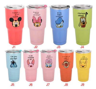 900 ml Disney Mickey mouse del fumetto in acciaio inox bottiglia di acqua della tazza Auto cappuccio di Tenuta tazza di paglia bollitore tazza di Birra Icemaster tazza