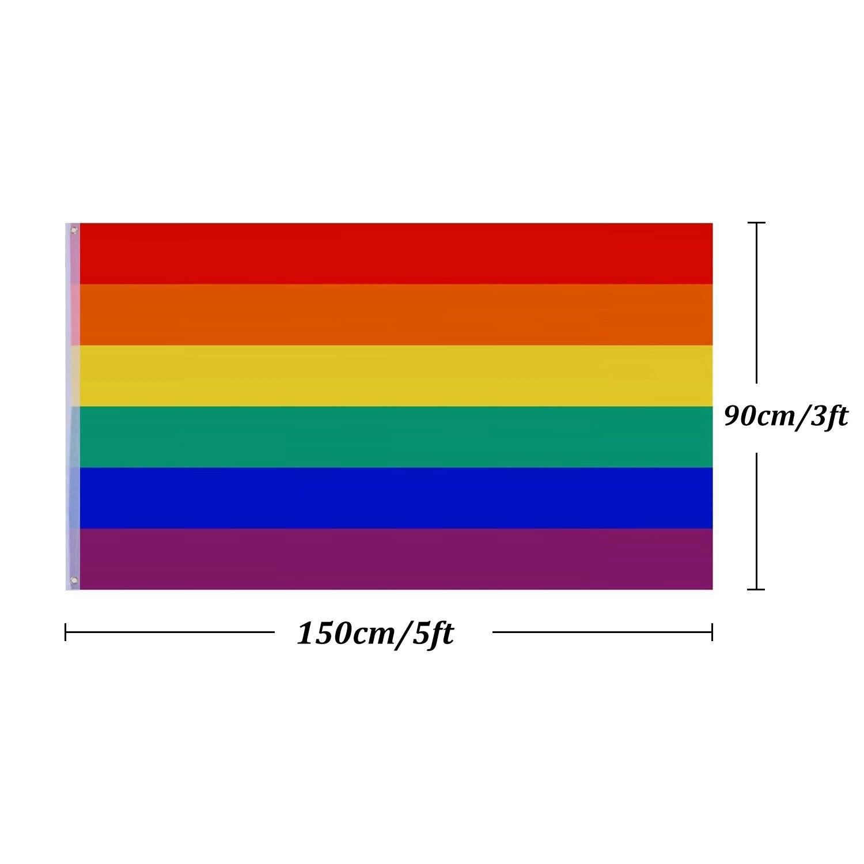 5Ft x 3Ft Large RAINBOW GAY PRIDE LGBT FLAG Festival Diversity Event