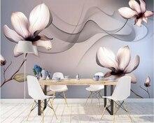 цены beibehang Custom photo 3d wallpaper mural dreamy smoke transparent flower modern background wall 3d wall paper papel de parede