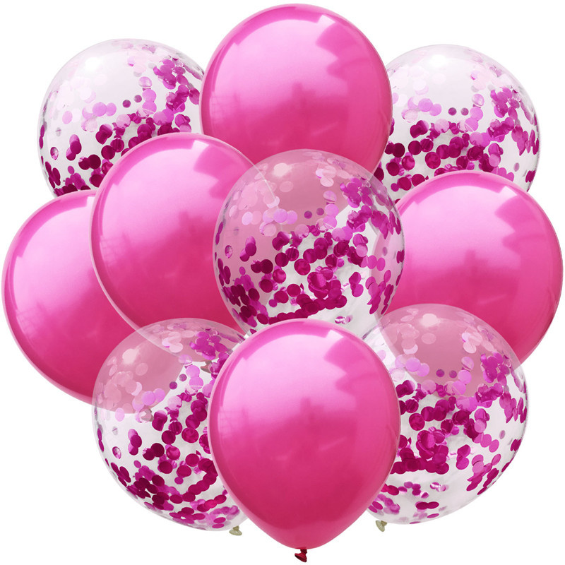 10pcs lot 12inch birthday party decorations kids adult balloons rose gold ballon birthday decoration 1st birthday babyshower in Ballons Accessories from Home Garden