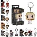 Funko Pop Game of Thrones Daenerys Targaryen Hot 2016 Vinly Figure Keychain Jon Snow Fire Dragon Harry Potter Key chain Ring Toy