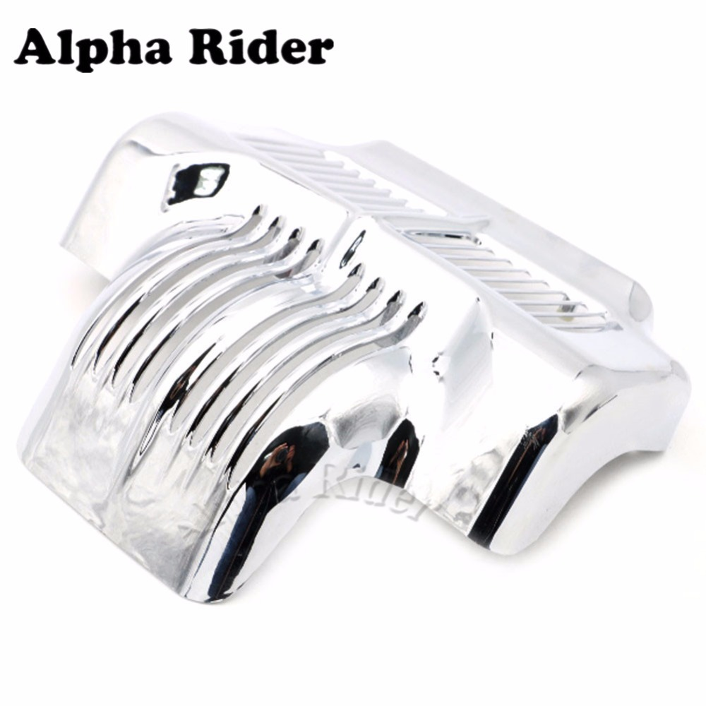 HOT SALE Chrome Motocycle Stock Oil Cooler Cover Guard for Harley Davidson Touring Freewheeler Electra Road Street Glides Trikes abs plastic new silver stock oil cooler cover for harley fit touring electra road street glide 2011 2012 2013 2014 2015