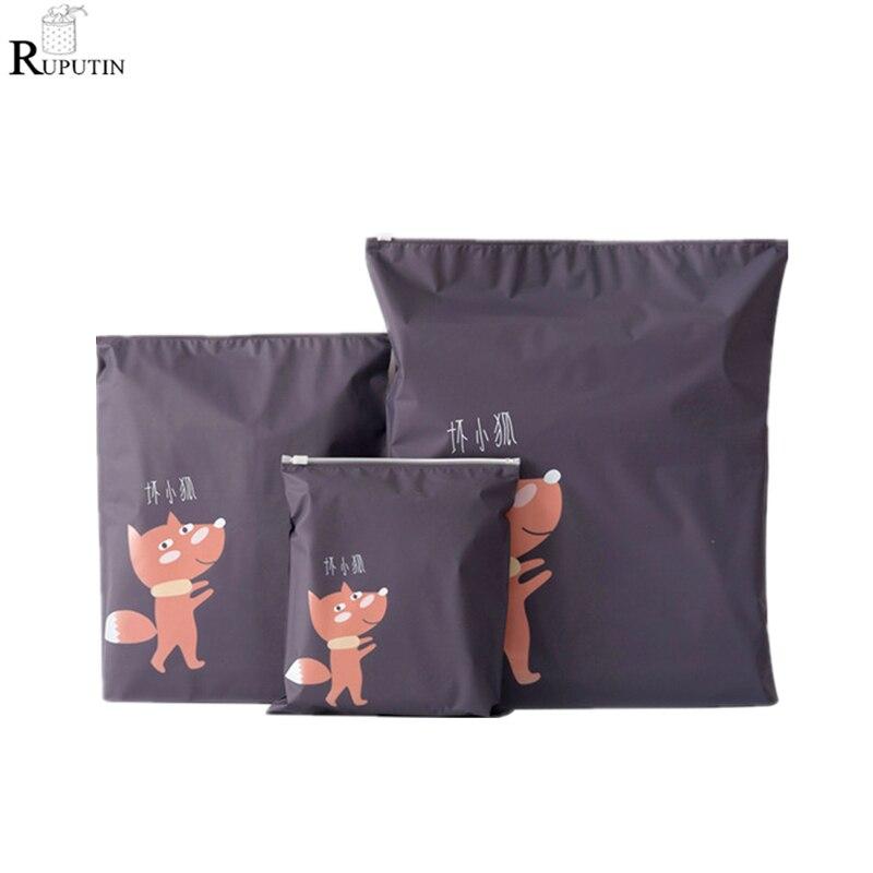 RUPUTIN 3Pcs/set Travel Organizer Suitcase Clothes Finishing Kit Beauty Case Make Up Bag Sundries Shoes Cosmetic Storage