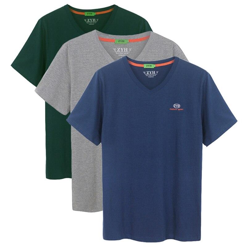 Homens de Alta Packag Qualidade Sólida Casual Camisetas Moda t Camisa Homem Algodão Manga Curta Camiseta Lazer 3 Pçs – 2020