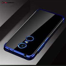 Case For Xiaomi Redmi 5 Plus Case On Funda Capa Ksiomi Xiomi Redmi 5 Plus Cover Silicone Transparent Protector Soft Blue Black