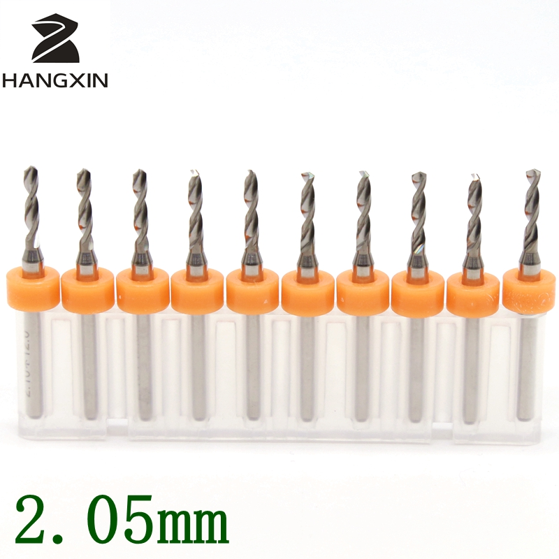 2.05mm PCB Drill Kit 10PCS Tungsten Carbide Metal CNC Router Wooden Leather Hand Tools Engraving Machine Accessories Milling tx 10pcs tungsten carbide drill bit tool set for metal 0 8mm cnc circuit board engraving instruments mini pcb drill bits kit