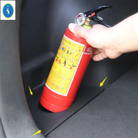 Yimaautotrims Boot Fire Extinguisher Support Beverage Cup Holder Car Trunk Rack Storage Case Fit For Hyundai Tucson 2015 2018