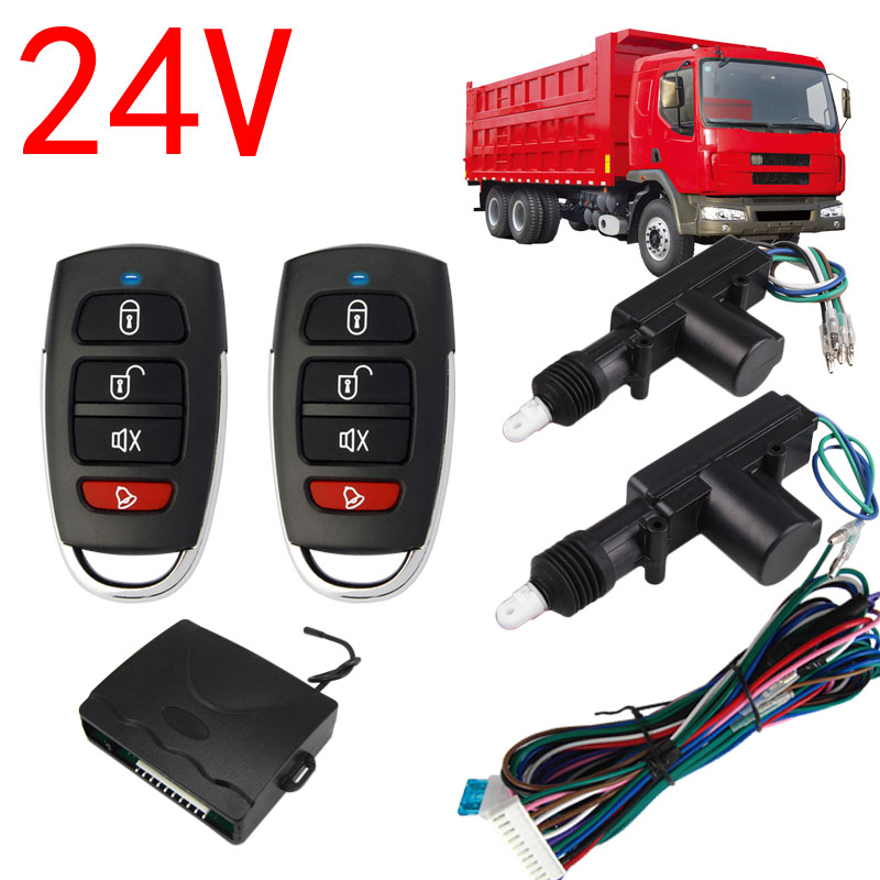 BIUYEE 8101 Universal 24V Central Door Lock locking system Auto Remote control Vehicle Keyless Entry System