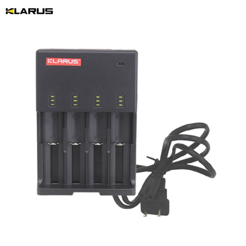 Smart Charger KLARUS C4 Charger for 26650 22650 18650 18490 17670 17500 16340 14500 10440 batteries intellectual battery charger аксессуар gembird cablexpert dvi d single link 19m 19m 1 8m black cc dvi bk 6