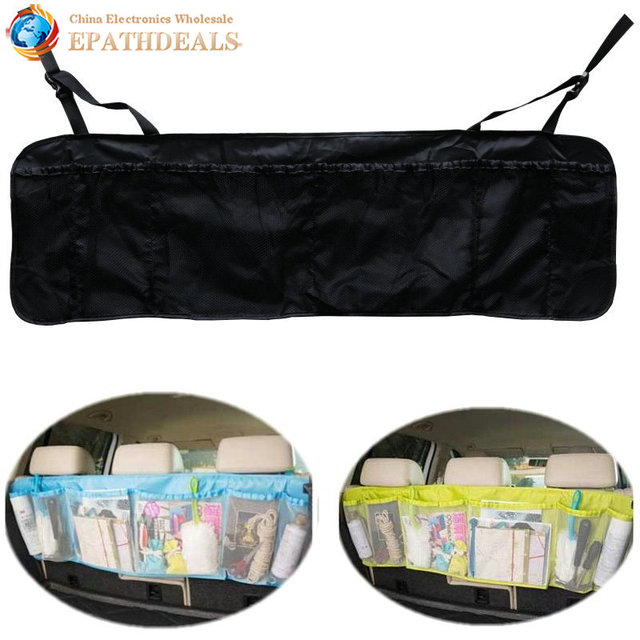 Auto Car Organizer Boot Multifunction Foldable Trash Hanging Storage Bags for Vehicle Seat Capacity Storage Pouch