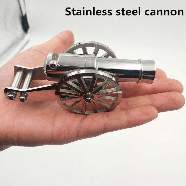 الفولاذ المقاوم للصدأ مصغرة نابليون مدفع المعادن البحرية سطح المكتب نموذج مجموعة المدفعية لجمع يمكن إطلاق قذيفةأدوات الهواء الطلق