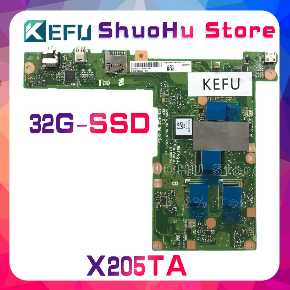 SHELI For ASUS X205TA X205T SSD 32GB laptop motherboard tested 100% work original mainboard head and the heart head and the heart stinson beach sessions