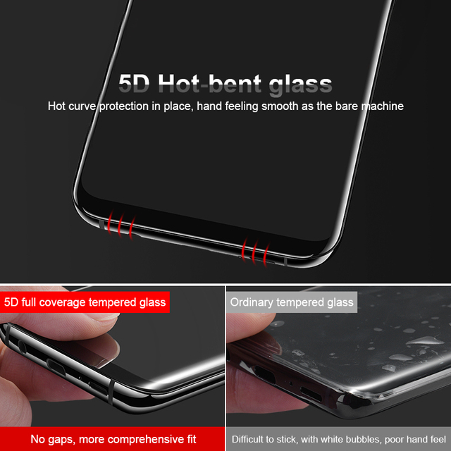 5D Curved Edge Full Cover Tempered Glass For Samsung S8, S8 Plus, S9, S9 Plus