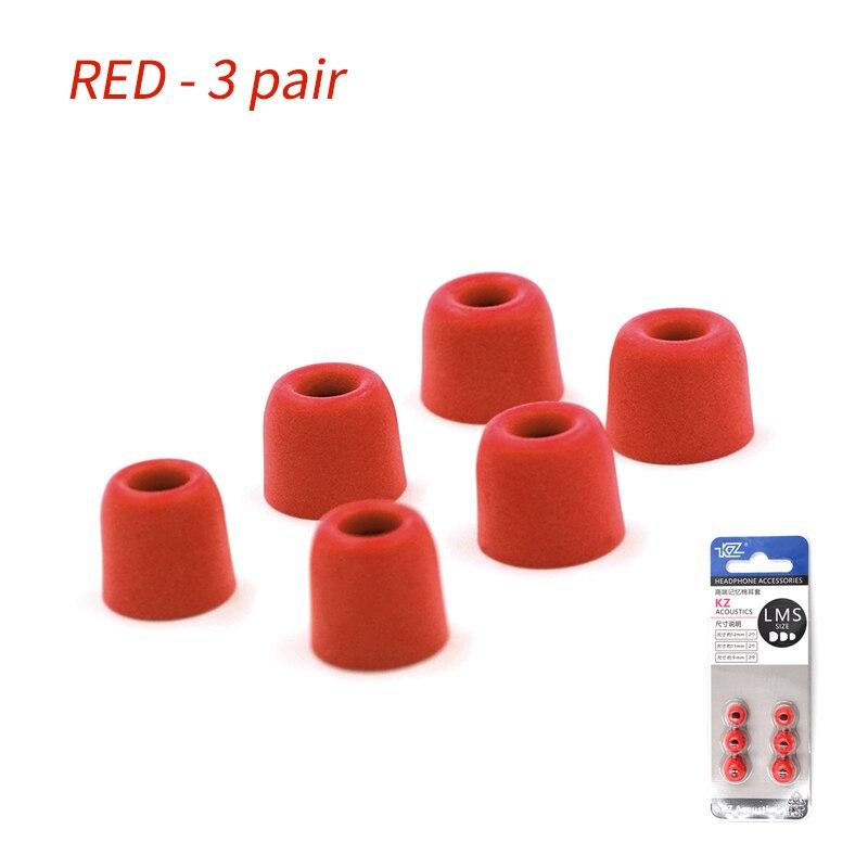 KZ 3 Pairs 6Pcs In Ear Tips Earbuds Headphones Silicone Eartips For KZ AS10 BA10 Universal Earbuds Ear Pads KZ ED16 ZSN